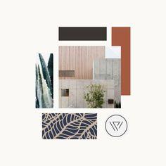 Masculine modern color palette brand mood board | Flourish Collaborative