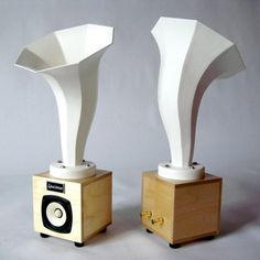 Specimen Hornlet HI Fi Audio Speakers in White | by Specimen Products