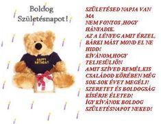 Birthday Wishes, Happy Birthday, Teddy Bear, Animals, Zen, Fantasy, Happy Brithday, Special Birthday Wishes, Animales