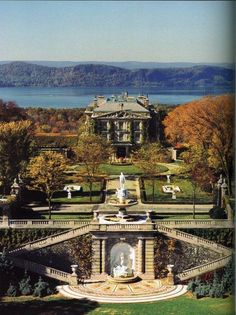 """Kykuit"" ~ Tarrytown ~ New York ~ The Rockefeller Estate ~ It is a Classical Revival-style villa completed by the Rockefellers in 1913 for John D. Rockefeller, founder of the Standard Oil Company. The first floor living spaces were designed by Ogden Codman, Jr., one of America's leading interior decorators."