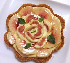 イチジク 桃 タルト もも フルーツタルト アーモンド tart peach
