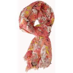 FOREVER 21 Abstract Floral Scarf