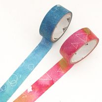 Lovely+tape+set+made+of+washi+paper  Quantity:+2+pcs Size:+15+mm(W)+x+3+m(L)