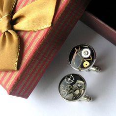 Original Steampunk Cufflinks for man