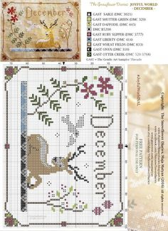 Dear Stitchers, We have arrived to the finish of my primitive cross stitch calendar, Joyful World. Tonight, before the clock hits midnight, I release the pattern of the last month, December. I am happ