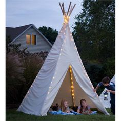 Kids Teepee 12' Foot | Outdoor Play Tents | HearthSong