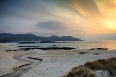 A deserted Sanna Bay just before sunset on the Ardnamurchan peninsula by photographer Derek Beattie of derekbeattieimages.com (emperor1959 on Flickr).