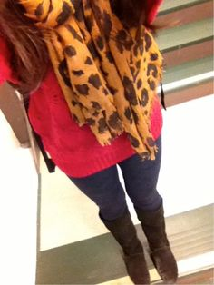 cute way to wear leopard for fall