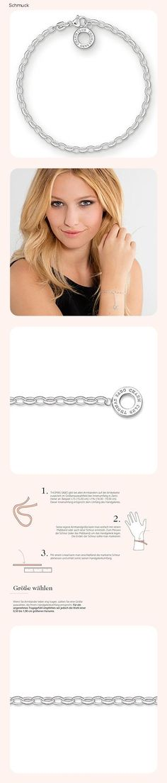 Thomas Sabo Damen Charm-Armband Charm Club 925 Sterling Silber X0163-001-12 - 14do Thomas Sabo, Charm Armband, Charmed, Club, Necklaces, Jewlery
