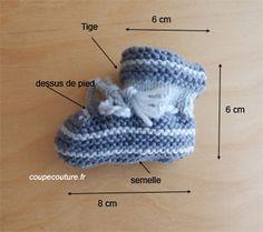 Coupe Couture : Chaussons de naissance