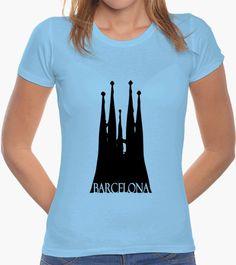 Camiseta Barcelona Barcelona, V Neck, Tops, Women, Fashion, Chemises, Colors, Moda, Fashion Styles
