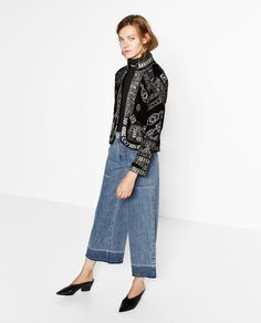 Image 1 of JACKET WITH METALLIC EMBROIDERY from Zara