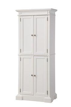 Home Styles 5004-692 Americana Pantry Storage Cabinet, White Finish $411