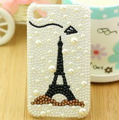 Black Eiffel Tower DIY phone case set  DIY by MegaSuperStore, $6.90