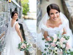 bridal bouquet, natural design, neutral bouquet #blushandwhite #eucalyptus #fleurtaciousdesigns -Elario Photography