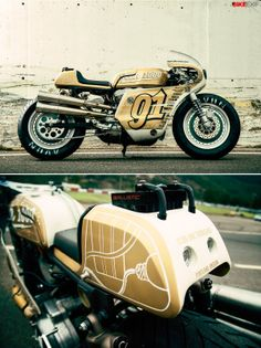 No one does badass like @Connie Hamon Brzowski Schlelein Motosports. Here's their latest custom motorcycle, a Harley Sportster roadracer called 'Iron Lung.'