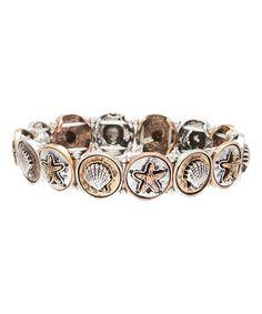 Loving this Tri-Tone Beach Stretch Bracelet on #zulily! #zulilyfinds