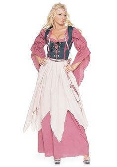 PINK LITTLE TAVERN GIRL WENCH HISTORY Age 4-10 Girls Childs Fancy Dress Costume