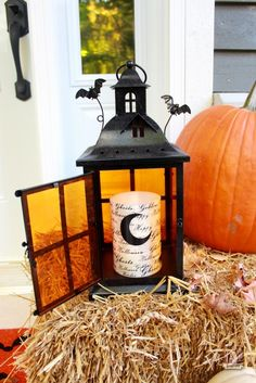 halloween pier 1 imports lantern with moon led candle - Pier One Halloween