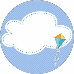 kite and cloud Kite Party, Scrapbook Images, Baby Stickers, Circle Labels, Borders And Frames, Binder Covers, Party Printables, Baby Boy Shower, Planners
