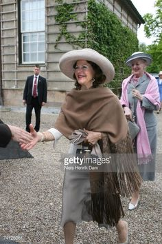 Queen Silvia of Sweden and Queen Margrethe II of Denmark (R) arrive at the Ordrupgaard Museum in Charlottenlund on May 11, 2007 near Copenhagen, Sweden. King Carl XVI Gustaf of Sweden, Queen Silvia of Sweden and Princess Victoria of Sweden are paying a state visit to Denmark of which the main focus will be on the Oresund Conference, where discussions will be held around the possible integration of the labour market of both countries within this region.