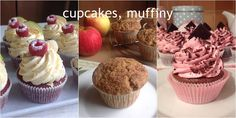 Cupcakes, muffiny Czech Desserts, Red Velvet, Cheesecake, Dessert Recipes, Cupcakes, Baking, Breakfast, Food, Morning Coffee