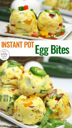 Instant Pot Egg Bites make healthy breakfast on-the-go easy. Copycat Starbucks sous vide egg bites with one main ingredient, dairy free, keto, low carb and fluffy with no blender. Egg Bites are my kid's favorite Instant Pot Breakfast recipe. Healthy Crockpot Recipes, Healthy Breakfast Recipes, Keto Recipes, Breakfast Ideas, Breakfast Cereal, Eat Breakfast, Mcdonalds Breakfast, Breakfast Muffins, Protein Recipes