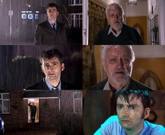 Wilf: Doctor? What about you now? Who have you got? I mean, all those friends of yours.  Doctor: They've all got someone else. Still, that's fine.I'm fine.  Wilf: I'll watch out for you.  Doctor: You can't ever tell her!  Wilf: No, no—but every night, Doctor, when it gets dark, and the stars come out, I'll look up on her behalf. I'll look up at the sky, and think of you.  Doctor: Thank you.