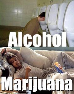 Alcohol vs. Marijuana Theres nothing bad about it..
