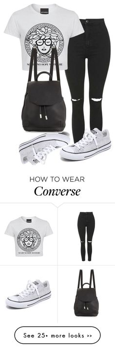"""""""."""" by adorci02 on Polyvore featuring Topshop, Converse and rag & bone"""
