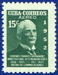 Cuba C66 Stamp - Colonel Sandrino Stamp - C CU C66-2 MNH
