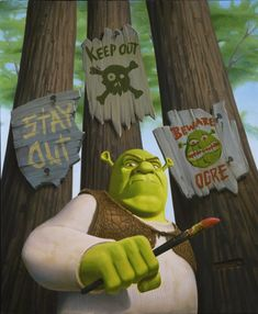 Shrek beware signs