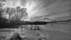 Sunset in black and white by Milan Cernak Milan, Black And White, Sunset, Landscape, Painting, Outdoor, Black White, Outdoors, Blanco Y Negro