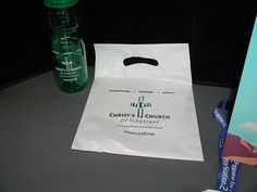 Christ Church of Flagstaff plastic bags and bottles. www.ThePrintRaven.com