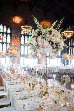 Soft romantic florida wedding centerpieces from aisle society elegant chicago wedding at the university club junglespirit Images