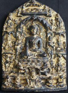 Burmese Bronze Buddhist stele