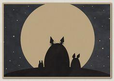Nowy Przyjazd klasyczne kreskówki totoro Hayao Miyazaki Japońskiego anime plakat…