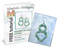 Free beading tutorial Squares of light by Marida Design at this link: https://docs.com/14SIP Pin links to her facebook page.