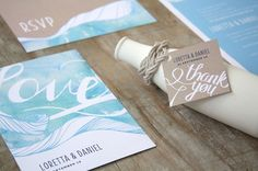 watercolour-wedding-invitation-stationery-kraft-blue-beach-coast-ocean-aqua