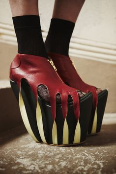 Gabriella Marina Gonzalez red wedges - strange for me but what the h? lol