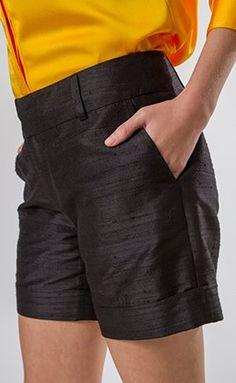 Shorts preto incrível para looks noturnos