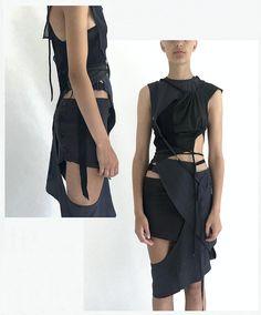 Anti Fashion, Punk Fashion, Runway Fashion, High Fashion, Fashion Outfits, Fashion Details, Fashion Design, Lookbook, Facon