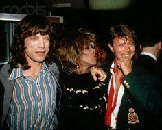 Mick Jagger and Tina Turner and David Bowie