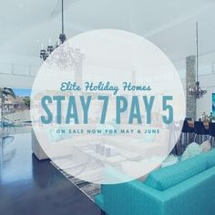 Stay 7 Pay 5 June. Elite Holiday Homes specials. Book now for May & June 2016 and you and your friends and family could be enjoying the luxury of an Elite Holiday Home and all the Gold Coast has to offer in June. #travel #goldcoast #holidays #visitgoldocast