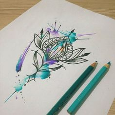 Best Watercolor tattoo - Примеры Эскизы - WATERCOLOR (Акварель)   165 фотогра...