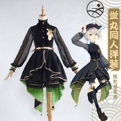 Hotarumaru Cosplay Touken Ranbu Online Black Dress Polyester Uwowo Costume One Piece Dress Cosplay Outfits, Anime Outfits, Mode Outfits, Kawaii Fashion, Lolita Fashion, Cute Fashion, Kawaii Cosplay, Art Manga, Royal Clothing