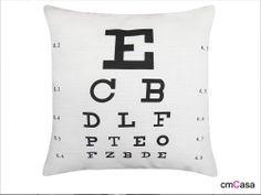 =cmCasa= 2192  Eye Vision Exam Chart  Throw Pillow Case/Cushion Cover