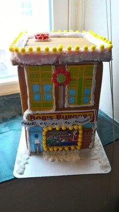 Bobs burgers ginger bread restaurant made by Andrea Calouro in MA.