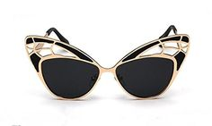 GAMT Gorgeous Butterfly Shape Cat Eye Sunglasses Colorful Stunning Prom Sexy Eyewear Black ** Find out more about the great product at the image link.Note:It is affiliate link to Amazon.