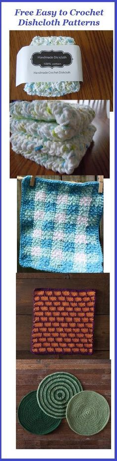 Free easy to crochet dishcloth patterns including simple dishcloths, gingham dishcloth, round dishcloth and more. Free crochet patterns